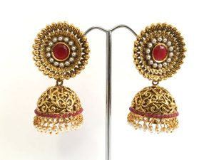 Antique Medallion Top Jhumkas