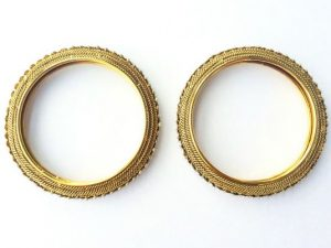 Antique Stone Studded 3D Bangles (Pair)