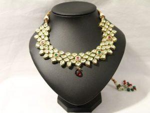 Authentic Kundan Necklace with Meenakari Work