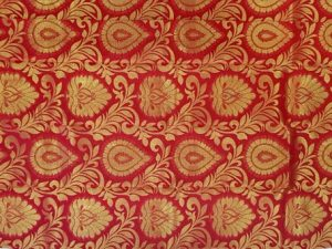 Bright Vermilion Red Large Motif Pure Kanchipuram Silk Saree