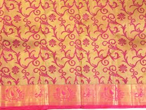 Fuschia Full Zari Pure Kanchipuram Silk