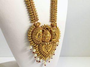 Large Vintage Inspired Lakshmi Haaram with Matching Jhumkas