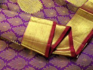 Purple Brocade Pure Kanchipuram Silk Saree